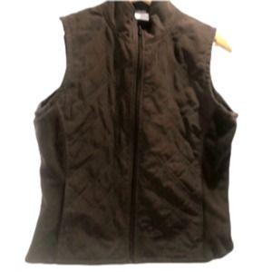 3/$20 Columbia brown vest full zip pockets small